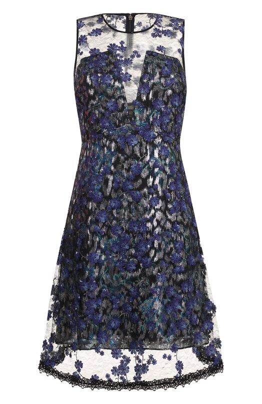 Купить Приталенное мини-платье без рукавов Elie Tahari, E702E607, Китай, Темно-синий, Подкладка-полиэстер: 95%; Подкладка-эластан: 5%; Полиэстер: 100%;
