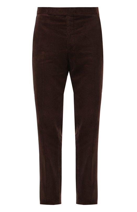 Купить Хлопковые брюки прямого кроя Ralph Lauren, 798678876, Италия, Коричневый, Хлопок: 100%; Подкладка-вискоза: 100%;