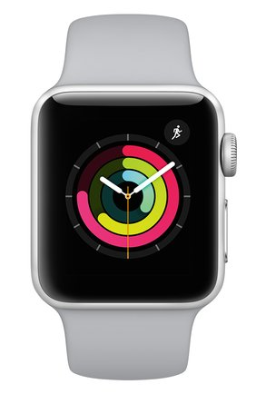 Apple Watch Series 3 (GPS) 38mm Silver Aluminum Case with Fog Sport Band