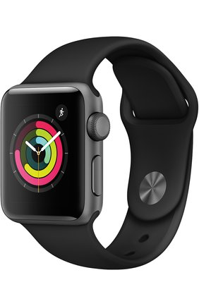 Apple Watch Series 3 (GPS) 38mm Space Gray Aluminum Case with Black Sport Band