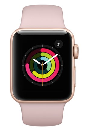 Apple Watch Series 3 (GPS) 38mm Gold Aluminum Case with Pink Sand Sport Band