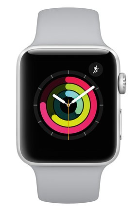 Apple Watch Series 3 (GPS) 42mm Silver Aluminum Case with Fog Sport Band