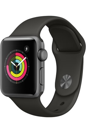 Apple Watch Series 3 (GPS) 38 mm Space Gray Aluminum Case with Gray Sport Band