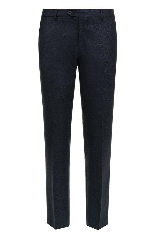 Купить Шерстяные брюки прямого кроя Berwich, SC/1ALC/AL2001X/AN2001, Италия, Темно-синий, Шерсть: 100%;