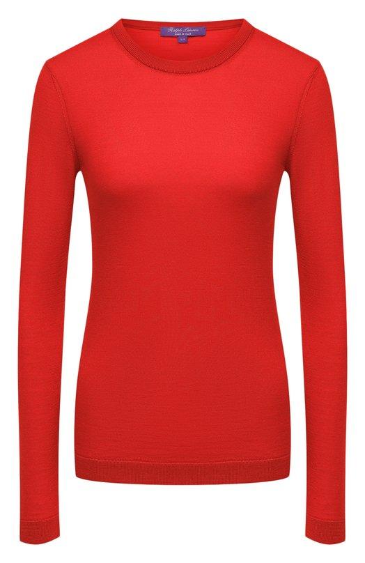 Купить Кашемировый пуловер прямого кроя с круглым вырезом Ralph Lauren, 290615194, Италия, Красный, Кашемир: 100%; Нейлон: 1%;