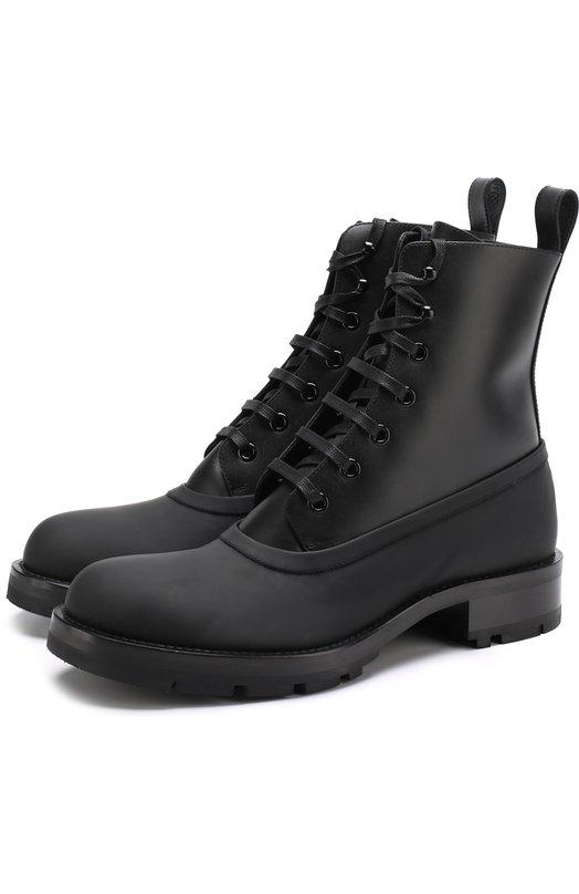 Высокие кожаные ботинки на шнуровке Marni