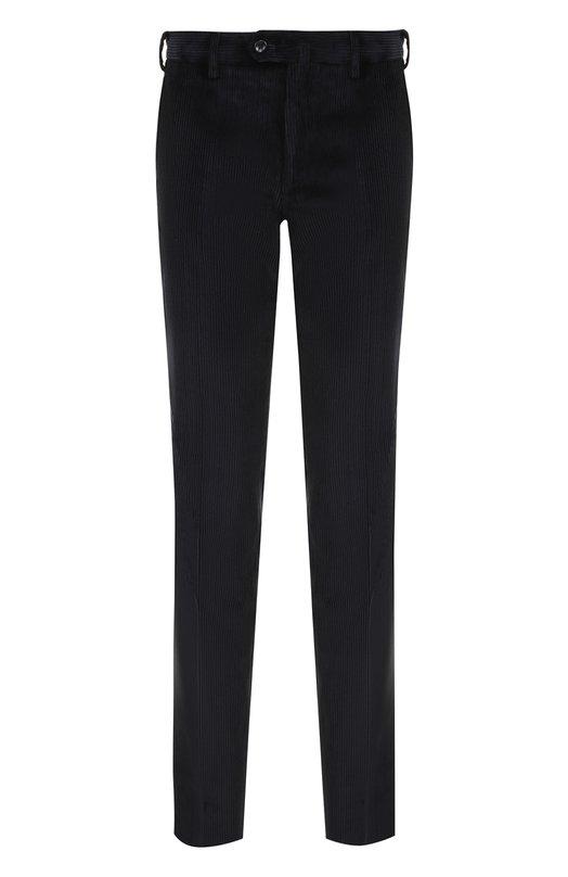 Купить Хлопковые брюки прямого кроя Loro Piana, FAG4504, Италия, Темно-синий, Хлопок: 100%;