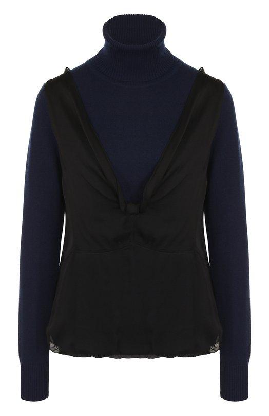 Кашемировый свитер с шелковой отделкой Dries Van Noten