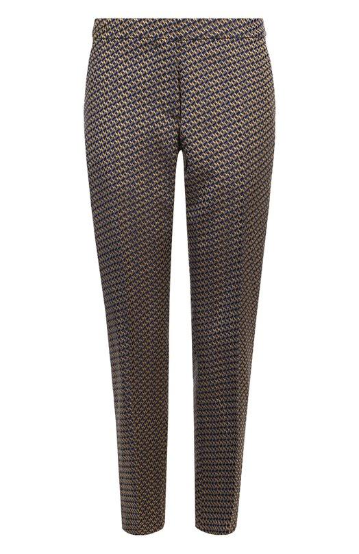 Купить Укороченные брюки прямого кроя со стрелками Dries Van Noten, 172-10950-4429, Венгрия, Разноцветный, Вискоза: 43%; Полиэстер: 29%; Ацетат: 28%;