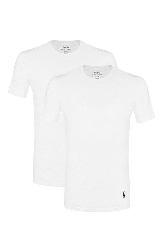 Купить Комплект из двух хлопковых футболок с круглым вырезом Ralph Lauren, 714513432, Шри-Ланка, Белый, Хлопок: 100%;