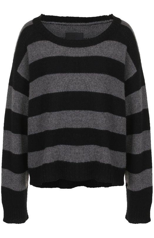 Купить Кашемировый пуловер в полоску с круглым вырезом RTA, WF7CS-815BKGRY, Китай, Темно-серый, Кашемир: 100%;
