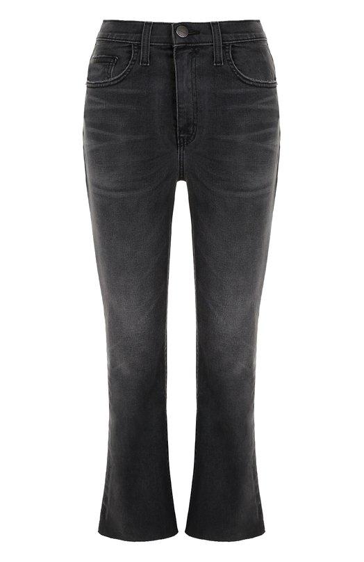 Купить Укороченные расклешенные джинсы с потертостями Current/Elliott, 1893-1875, США, Черный, Хлопок: 98%; Эластан: 2%;