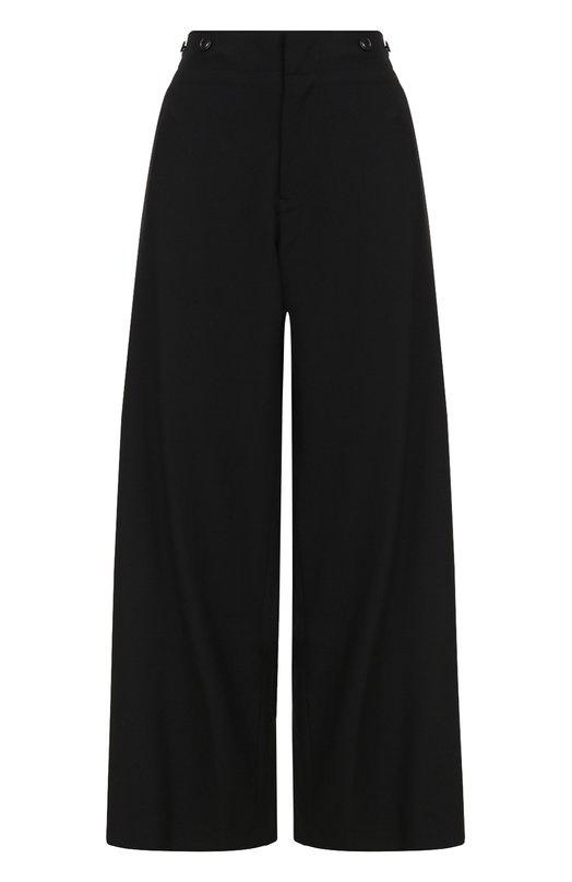Купить Шерстяные расклешенные брюки с карманами Yohji Yamamoto, YK-P21-100, Япония, Черный, Шерсть: 100%; Подкладка-купра: 100%;