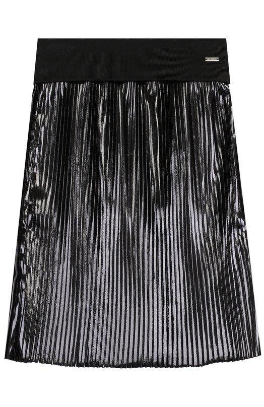 Купить Юбка с плиссировкой и широким поясом Givenchy, H13001, Португалия, Черный, Отделка-хлопок: 98%; Отделка-эластан: 2%; Полиэстер: 100%;