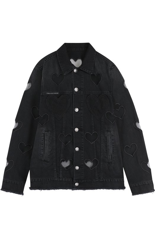 Купить Джинсовая куртка свободного кроя с прозрачными вставками Philipp Plein Италия 5210286 F17C WDB0083 PDE017N