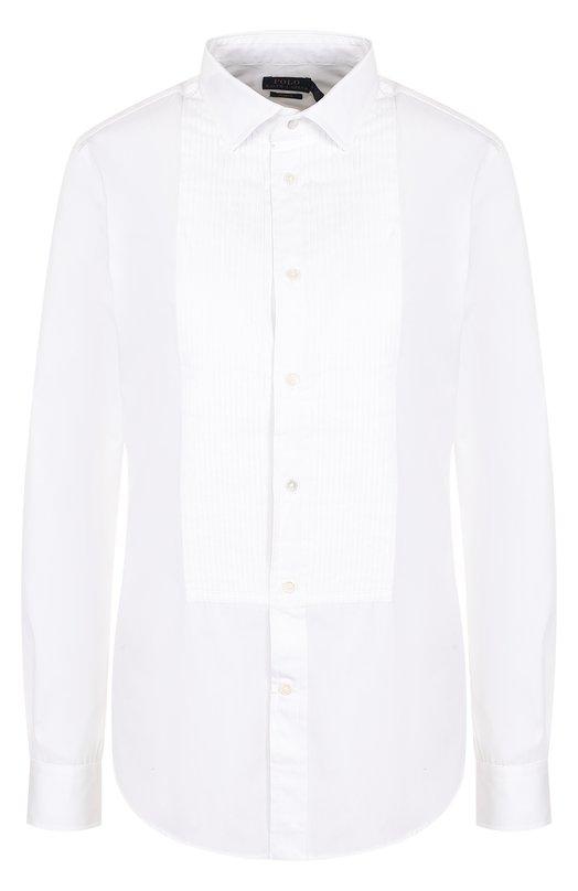 Купить Приталенная хлопковая блуза Polo Ralph Lauren, 211670754, Китай, Белый, Хлопок: 100%;