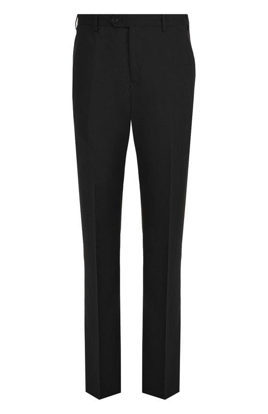 Купить Шерстяные брюки прямого кроя Giorgio Armani, ZSP066/0S835, Италия, Черный, Шерсть: 100%;