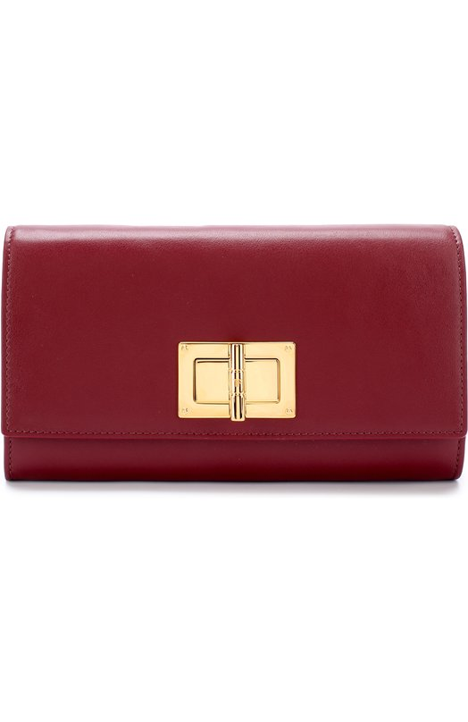 Купить Кожаное портмоне Tom Ford, S0131T-CE7, Италия, Бордовый, Кожа натуральная: 100%;