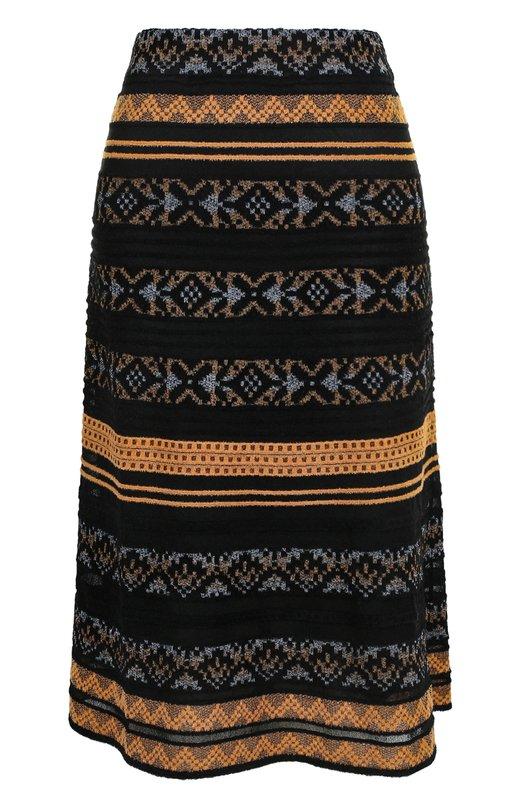 Купить Вязаная юбка-миди с принтом M Missoni, ND0KG08E2M6, Тунис, Черный, Вискоза: 52%; Полиамид: 31%; Хлопок: 17%; Подкладка-полиэстер: 100%;