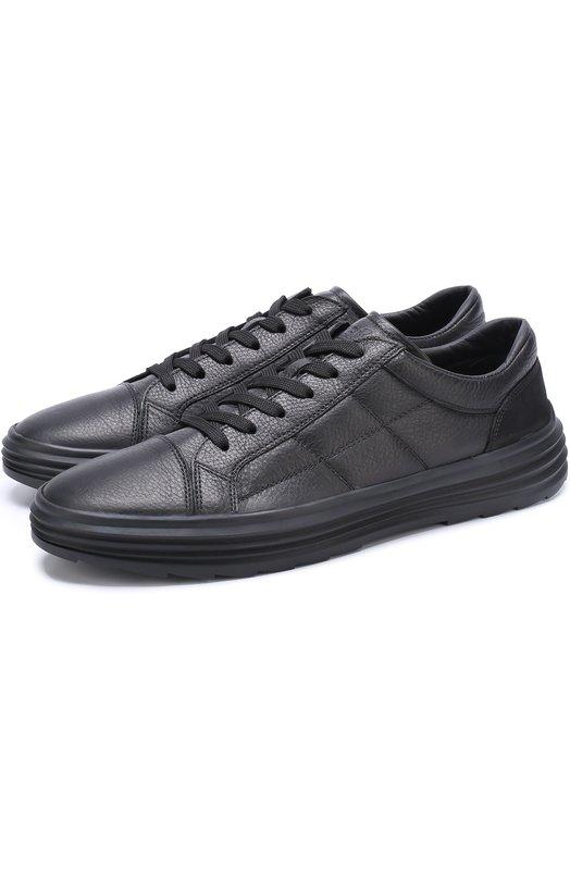 Купить Кожаные кеды на шнуровке Hogan, HXM3410J190HRM0XCG, Италия, Черный, Кожа натуральная: 100%; Стелька-кожа: 100%; Подошва-резина: 100%;