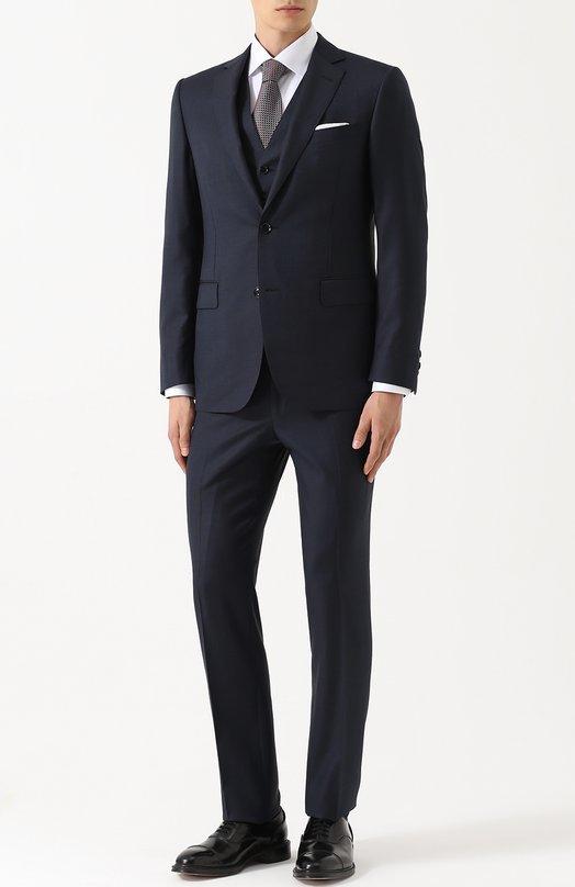 Купить Шерстяной костюм-тройка Pal Zileri, L34CZ22K25/21534, Италия, Темно-синий, Шерсть: 100%; Подкладка-купра: 100%;