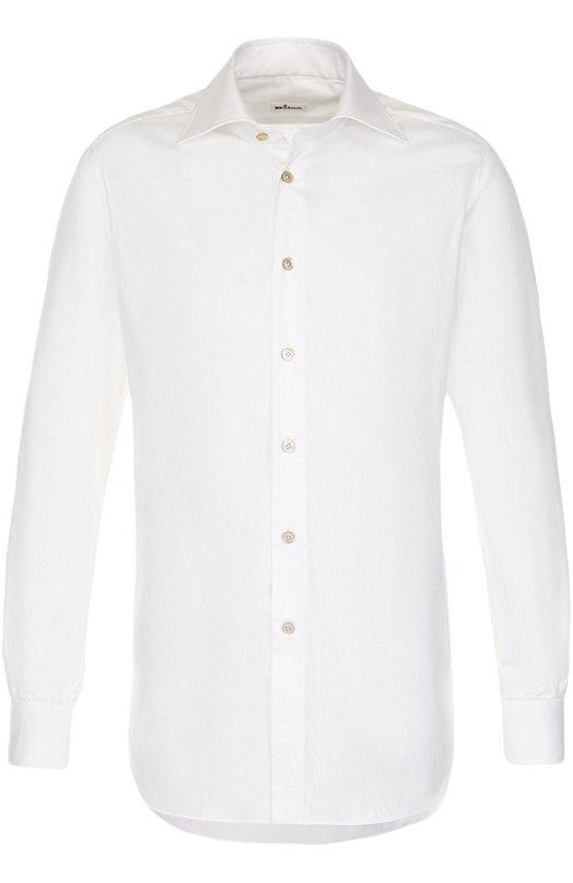 Купить Хлопковая сорочка с воротником акула Kiton, UCCH000370100Z, Италия, Белый, Хлопок: 100%;
