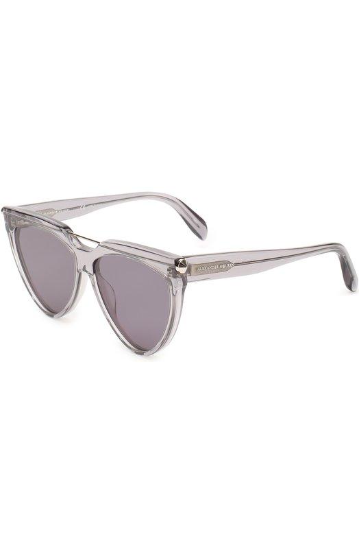 Купить Солнцезащитные очки Alexander McQueen, 0087 002, Италия, Прозрачный