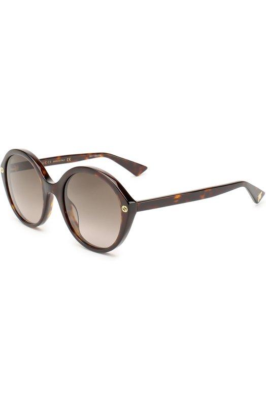 Купить Солнцезащитные очки Gucci, 0023 002, Италия, Коричневый