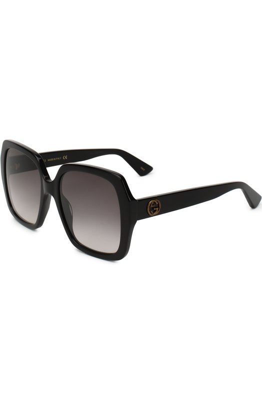 Купить Солнцезащитные очки Gucci, GG0096 001, Италия, Черный