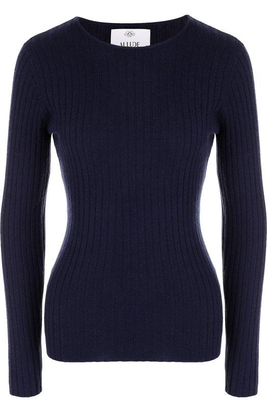 Купить Кашемировый пуловер фактурной вязки Allude, 17510/001050, Китай, Темно-синий, Кашемир: 100%;