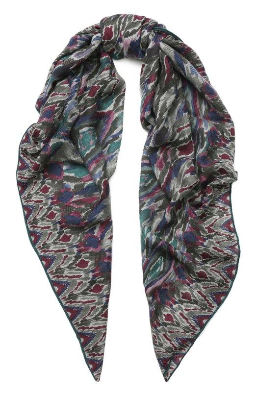 Купить Кашемировая шаль Loro Piana, FAG2881, Италия, Темно-серый, Кашемир: 100%;