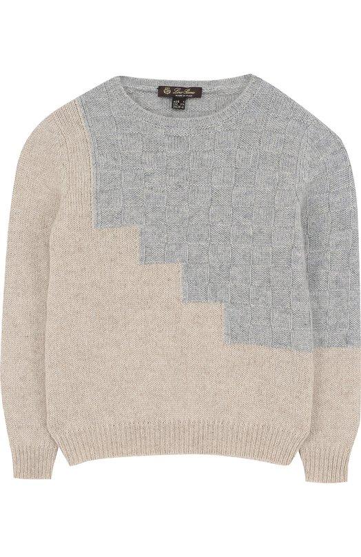 Кашемировый пуловер с фактурной отделкой Loro Piana