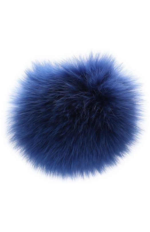 Купить Помпон из меха лисы Loro Piana, FAG5547, Италия, Темно-синий, Мех/лиса/: 100%;