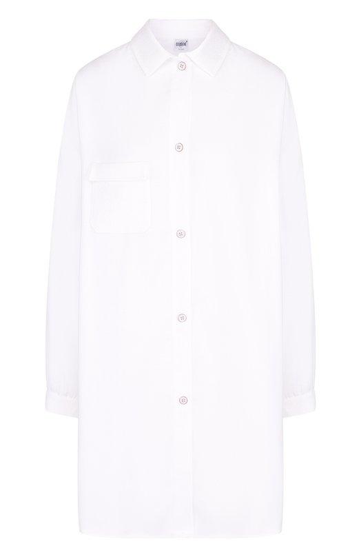 Купить Однотонная хлопковая сорочка свободного кроя Celestine, 20000667/VIRGINIA, Германия, Белый, Хлопок: 100%;
