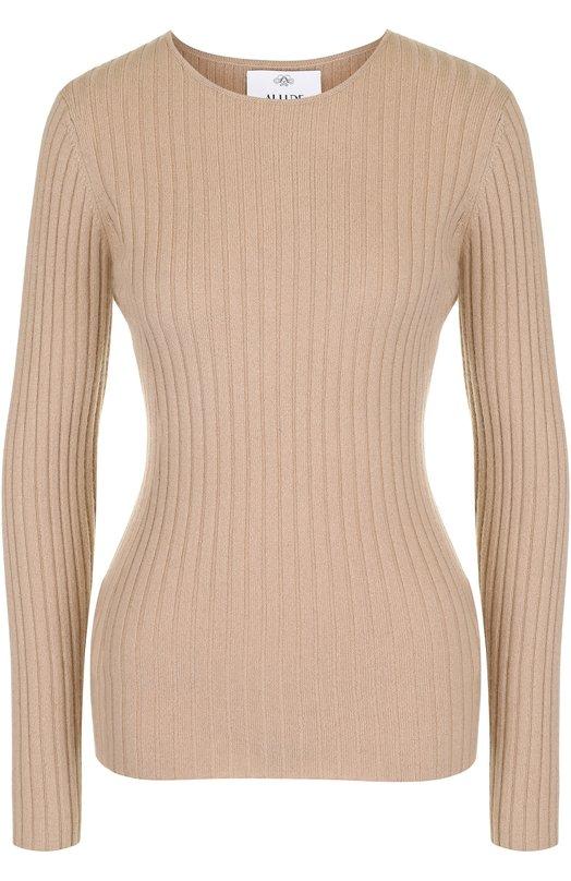Купить Кашемировый пуловер фактурной вязки Allude, 17510/001050, Китай, Коричневый, Кашемир: 100%;