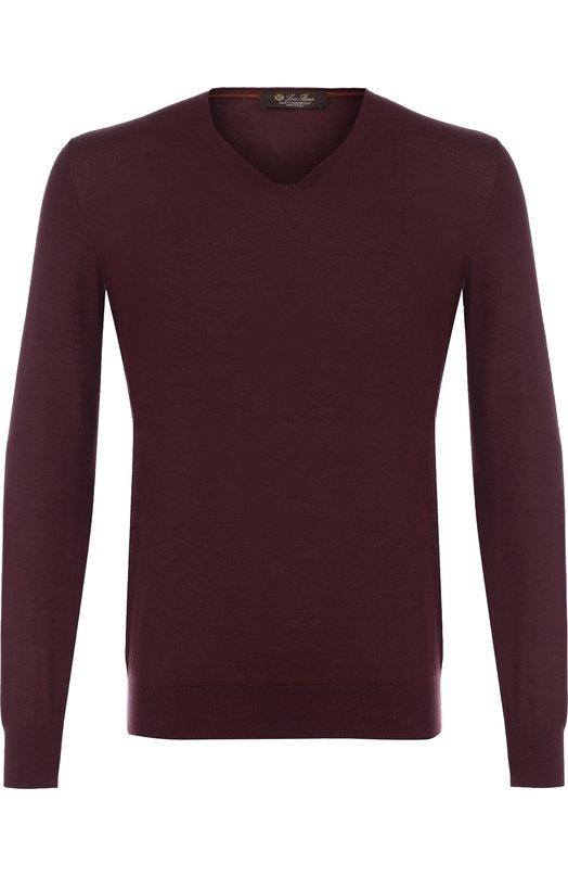 Кашемировый пуловер тонкой вязки Loro Piana
