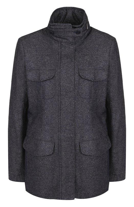 Купить Приталенная куртка из смеси кашемира и льна Loro Piana, FAG3250, Италия, Синий, Подкладка-шерсть: 98%; Кашемир: 62%; Лен: 26%; Подкладка-эластан: 2%; Шерсть: 11%; Эластан: 1%;