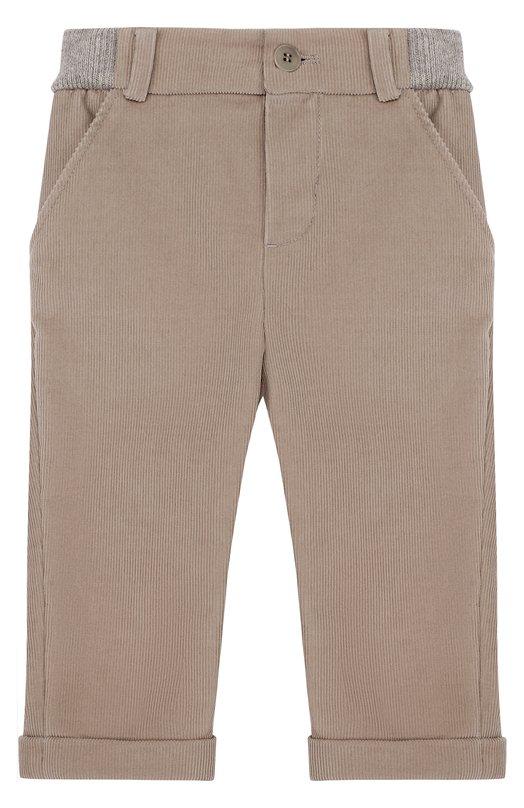 Купить Хлопковые брюки с эластичной вставкой на поясе Loro Piana, FAF8717, Италия, Светло-серый, Хлопок: 98%; Эластан: 2%; Отделка-кашемир: 100%;