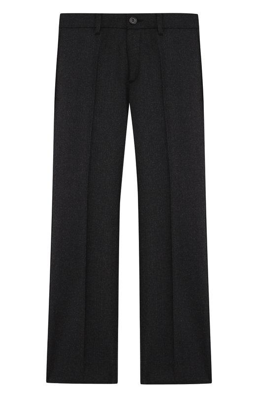 Купить Шерстяные брюки прямого кроя Dal Lago, N202/2015/4-6, Италия, Темно-серый, Шерсть овечья: 100%; Подкладка-полиэстер: 100%;