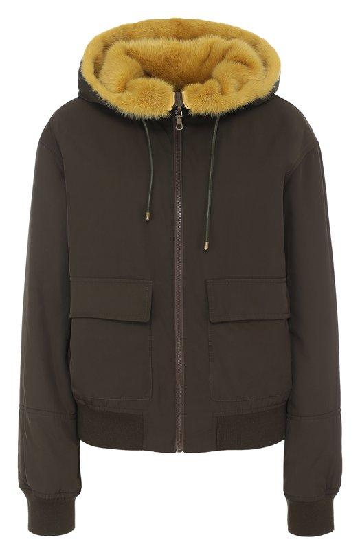 Купить Двусторонняя куртка с подкладкой из меха норки Army Yves Salomon, 7WFV01456N37X, Франция, Хаки, Отделка-акрил: 90%; Полиэстер: 100%; Подкладка-мех/норка/: 100%; Отделка-спандекс: 10%;