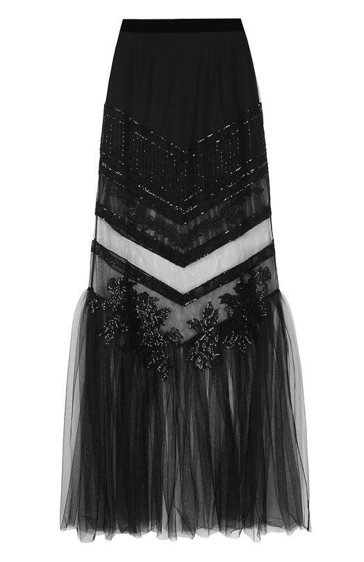 Прозрачная юбка-макси с вышивкой La Perla La Perla