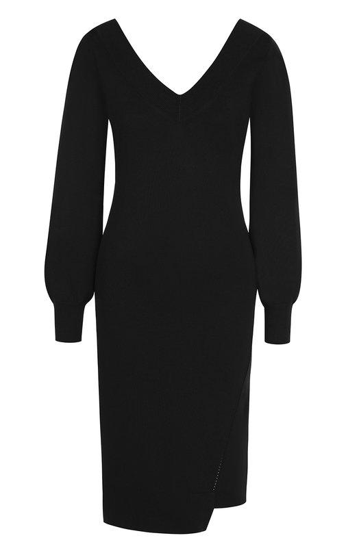 Купить Приталенное мини-платье с V-образным вырезом Burberry, 4058519, Китай, Черный, Полиамид: 100%;