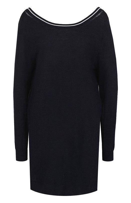Купить Шерстяное платье-миди с длинным рукавом Zadig&Voltaire, WFMK0401F, Китай, Темно-синий, Шерсть меринос: 100%;