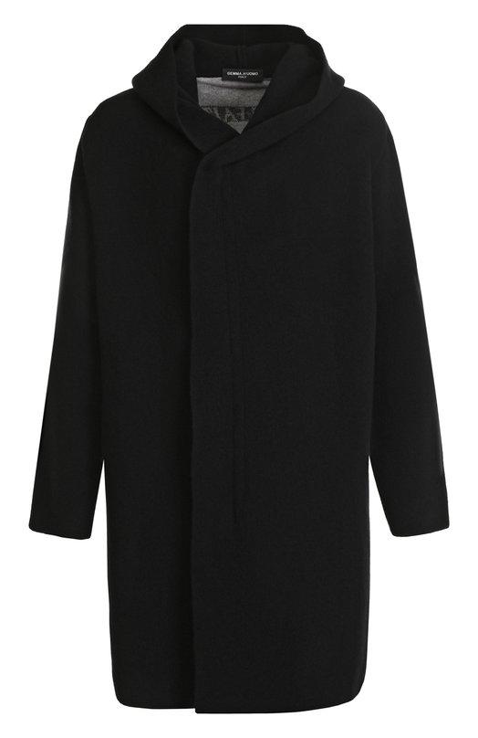 Шерстяное пальто свободного кроя на молнии с капюшоном Gemma. H