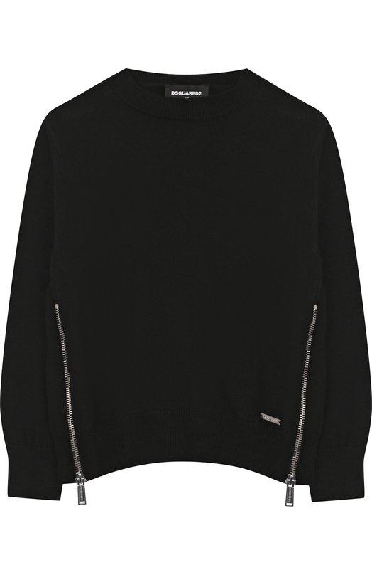Вязаный пуловер с декоративными молниями Dsquared2
