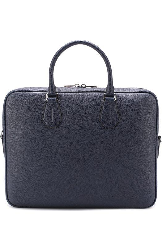 Купить Кожаная сумка для ноутбука Bally, STAZ/CALF, Италия, Темно-синий, Кожа натуральная: 100%;