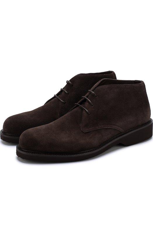 Купить Замшевые ботинки на шнуровке Ermenegildo Zegna Италия 5214201 A2898X-PLI