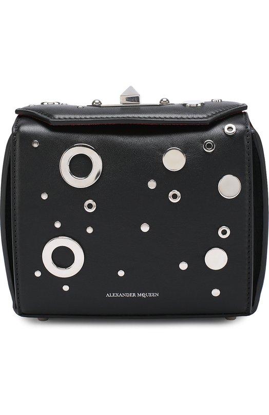 Купить Сумка Box 19 с заклепками Alexander McQueen, 491730/DZQCY, Италия, Черный, Кожа натуральная: 100%;