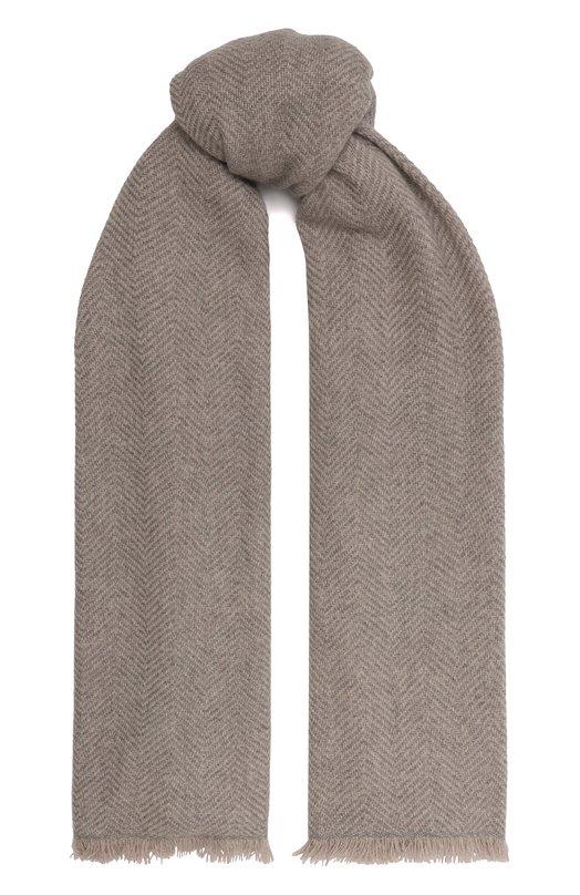Купить Кашемировый шарф Loro Piana, FAG5593, Италия, Светло-серый, Кашемир: 100%;