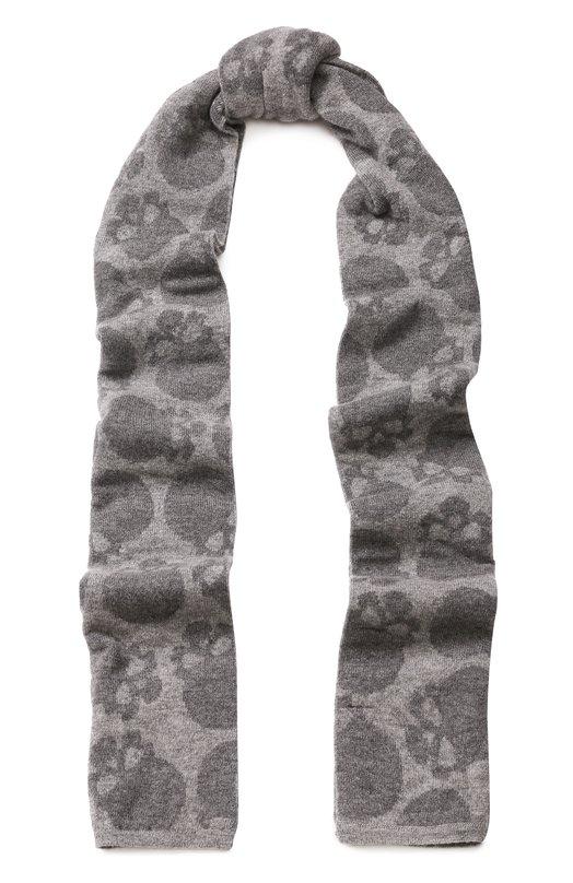 Купить Шерстяной шарф с принтом Gemma. H, UC JQ3G SCIA, Италия, Серый, Шерсть меринос: 100%;